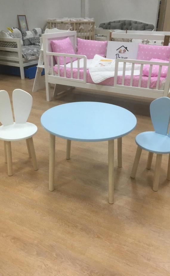 детский стол и стул зайка